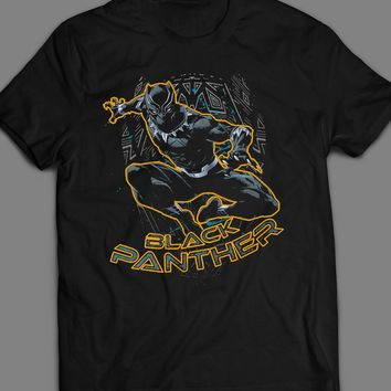 MARVEL'S BLACK PANTHER COMIC BOOK ART T-SHIRT