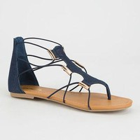 SODA Bungee Cord Womens Gladiator Sandals | Sandals