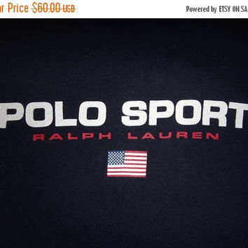 Hot sale 30% off rare Vintage Polo Sport Spell Out Long Sleeve tshirt Polo Ralph Lauren T Shirt
