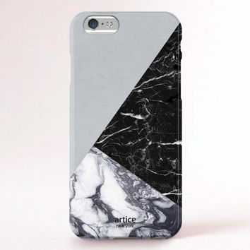 iPhone 6s case, iPhone 6s plus case, iPhone 6 Case, iPhone 6 Plus Case, iPhone 5S Case, iPhone 6, iPhone 5C Case - Marble block warm grey
