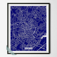 Norwich Map, Norwich Print, England Poster, Norwich Poster, England Print, England Map, United Kingdom, Street Map, Wall Art