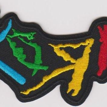 Korn Iron-On Patch Color Letters Logo
