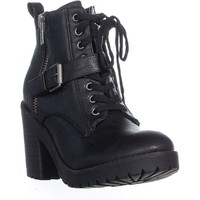 Rampage Haydee Lace Up Combat Boots, Black, 7.5 US