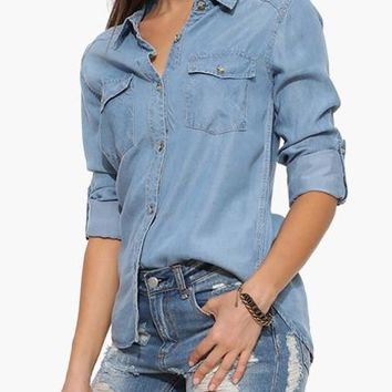 The Calssic Vintage Denim Shirt