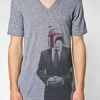 V-Neck Boba Fett SUIT UP T Shirt American Apparel S M L XL
