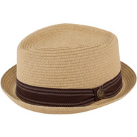 Goorin Habana Tan Straw Pork Pie Fedora Hat