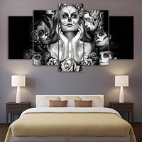 Day of the Dead Face canvas panel wall art canvas print picture wall art decor