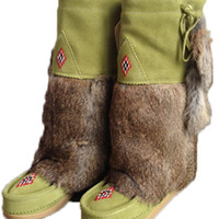 Snooty Bootie Boots in Green