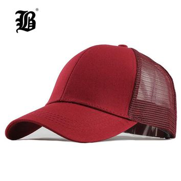 Trendy Winter Jacket [FLB] Summer Mesh Cap Ponytail Caps Messy Buns Trucker Plain Baseball Cap Fashion Snapback Sports Hats For Women Man F144 AT_92_12