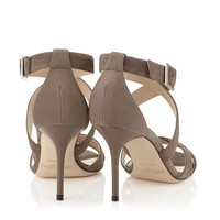 Mink Suede Sandals | Louise | Pre Fall 15 | JIMMY CHOO Shoes