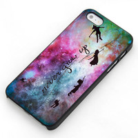 Disney New Peter Pan Quote Galaxy For Samsung Galaxy S3 / S4 and IPhone 4 / 4S / 5 / 5S / 5C Case