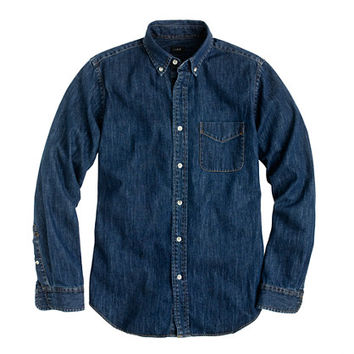 J.Crew Mens Slim Midweight Denim Shirt