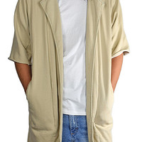 The Cut Off Sleeve Overcoat in Sand