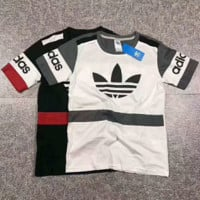 ADIDAS Women With Men Fashion Cartoon Print Casual Blouse Tee Top G-A-GHSY-1