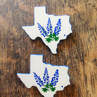 Vintage Texas Bluebonnet Pin