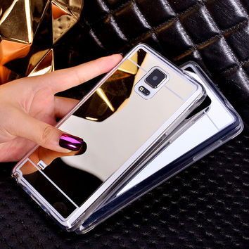 Ultra Thin Electroplate Mirror Case Cover For Samsung Galaxy S7 S6 Edge Plus Note 4 Note 5 A5 A7 A8 J5 J7 A3 A5 A7 Coque