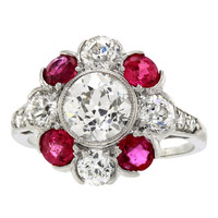 Art Deco Diamond and Ruby Ring