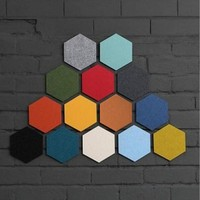 Creative Felt Hexagon Colorful Wall Stickers