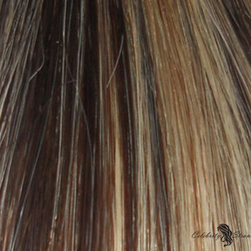 "18"" Clip In Remy Hair Extensions: Dark Brown/ Monroe Blonde No. P4-613"