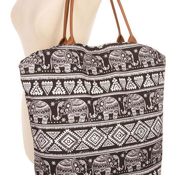 Large Tote Bag Elephant lover lovers gift Handbags Best selling items  Womens gift for her - By PiYOYO