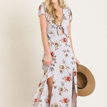 Kenley Lavender Floral Maxi Dress