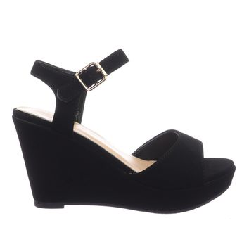 Coach1 Platform Wedge Open Toe Dress Sandal