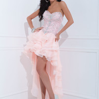 Ruffled High Low Sweetheart Neckline Formal Prom Dress By Tony Bowls 114748