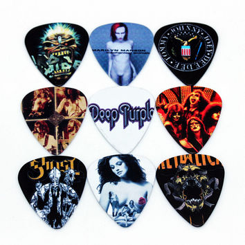 10pcs Newest  Custom-made band Guitar Picks Thickness 1.0mm  Guitar Accessories