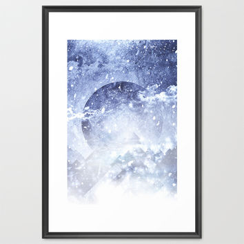 Even mountains get cold Framed Art Print by HappyMelvin