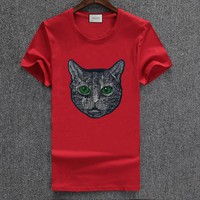 Gucci Fashion Casual Shirt Top Tee-164