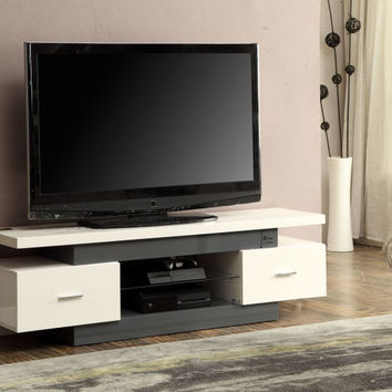 Acme Winford TV Stand, Black & Black Glass
