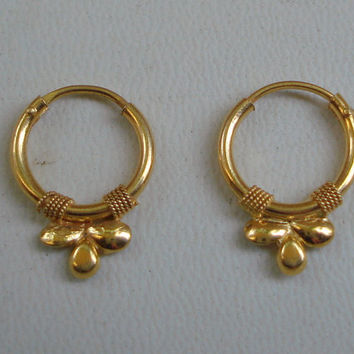 traditional design 18k gold earrings hoop upper ear earrings infant