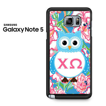 Alpha And Omega Lily Pulitzer Samsung Galaxy Note 5 Case
