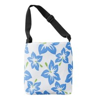 Exotic Blue Hibiscus Crossbody Bag