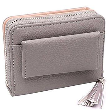 Womens RFID Blocking PU Leather Wallet Card Holder Organizer Girls Small Cute Coin Purse with ID Window