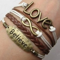 love infinity believe multilayer bracelet
