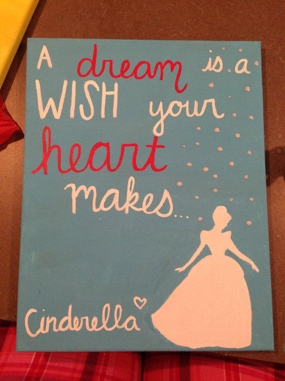 cinderella dream quote painting from lovepurplelivegold on
