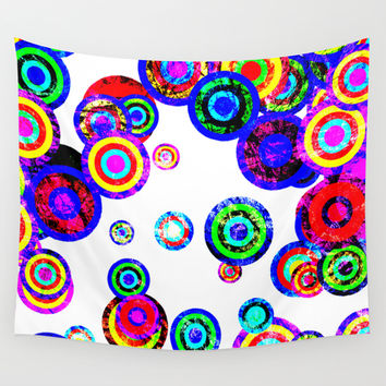 Moving Targets Wall Tapestry by Miss L In Art
