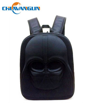 Chuwanglin Star Wars Stormtrooper Darth Vader Helmet 3D Moulded Backpack School Travel Bag laptop bag LJY12191