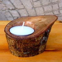 Rustic Wood Candle Holders Wooden Candle Holders Woodland Wedding Rustic tee light candle holder oak holder