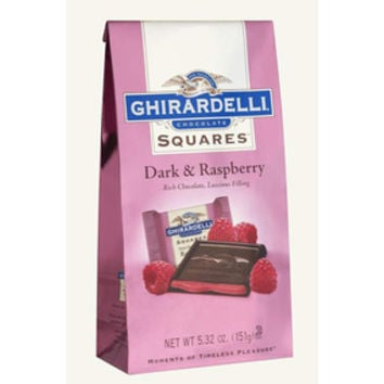 Ghirardelli Dark Chocolate Squares with Raspberry Filling 5-Ounce Bags