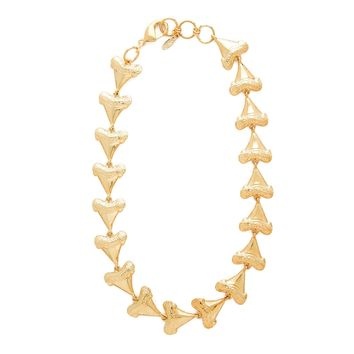 Tooth or Dare in Gold Chocker