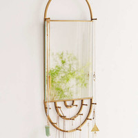 Hanging Rectangle Mirror Jewelry Storage | Urban Outfitters