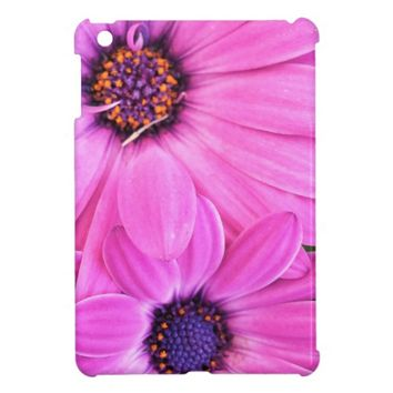 Pink Flowers Gerbera Daisy Floral Case For The iPad Mini