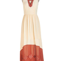 ModCloth Boho Long Sleeveless Maxi Way to Glow Dress