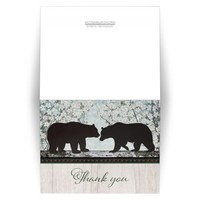 Thank You Cards - Rustic Bear Spring Floral