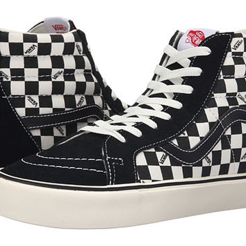 Vans Sk8-Hi Lite + (Reissue) Black/Check - Zappos.com Free Shipping BOTH Ways