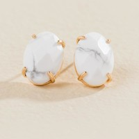Christine Oval Stud Earring