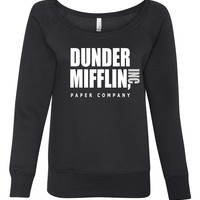 Dunder Mifflin Women's Wideneck Sweatshirt