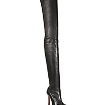 Christian Louboutin - Louise Stretch Leather Thigh-High Boots - Saks Fifth Avenue Mobile